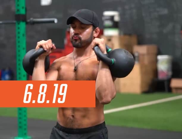 Workout Day: June 8, 2019 | Full Body, double kettlebell course image